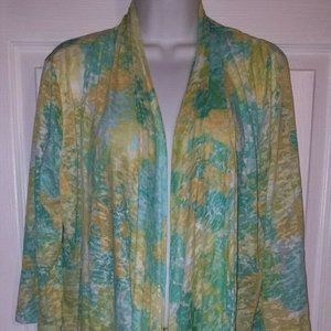 Hearts of Palm Long sleeve Shawl Cape Open